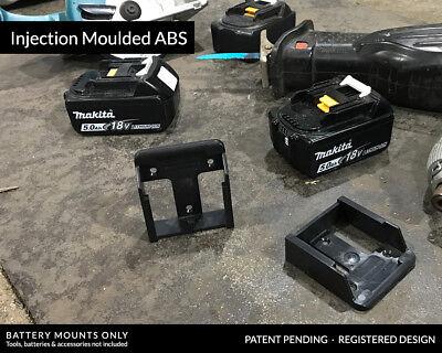 5x BATTERY MOUNTS for MAKITA 18v Storage Shelf Rack Stand Holder Slots Van Case 3