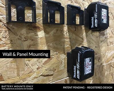 5x BATTERY MOUNTS for MAKITA 18v Storage Shelf Rack Stand Holder Slots Van Case 4
