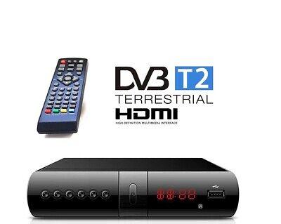 Digitale Terrestre Decoder DVB-T2 Ricevitore Scart HDMI USB Telecomando Full HD 2