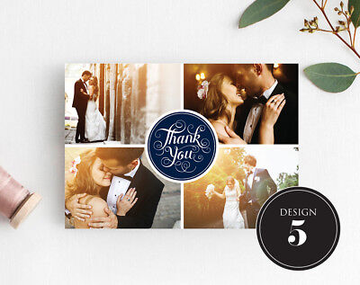 Personalised Wedding Thank You Cards Free Envelopes Your Photos Rustic 6