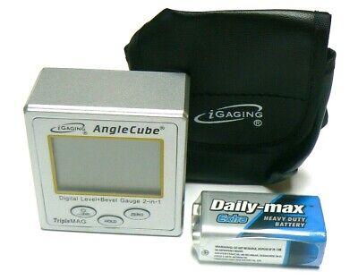 iGaging Angle Cube Digital Protractor Gauge Magnetic Angle & Level Sensor Bevel 9