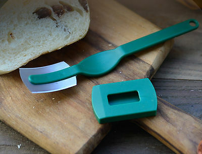 HIC Grignette Dough Lame Blade Baker Fixed Blades&Cover For Bread Sandwich Toast