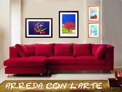 """GIANCARLO FANTINI- """"L'albero""""  - Serigrafia POLIMATERICA cm 50x70 7"""
