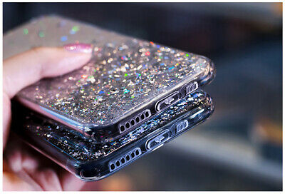 For iPhone 11 Pro XS Max XR X 8 7 Plus Glitter Shockproof Protective Case Cover 9