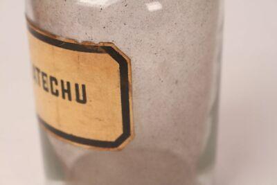 Apotheker Flasche Medizin Glas Katechu antik Deckelflasche 17 cm groß Gefäß 4