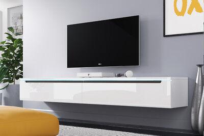 Tv Lowboard Swift In Weiß Beige Wotan Eiche Stehend Oder
