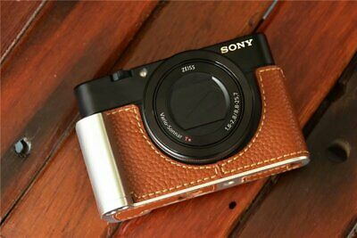 Genuine Real Leather Camera Half Case Grip for SONY RX100 Mark III / IV / V 4