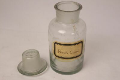 Apotheker Flasche Medizin Glas groß Fruct. Carri antik Deckelflasche 17 cm 12