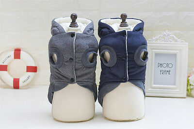 2019 New Puppy Pet Dog Clothes Hoodie Winter Warm Sweater Coat Costumes Apparel 4