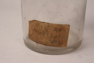 Apotheker Flasche Medizin Glas Spir. Camphor. antik Deckelflasche Gefäß 20 cm 11