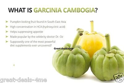 3 x BOTTLES 180 Capsules 3000mg Daily GARCINIA CAMBOGIA HCA 95% Weight Loss Diet 11