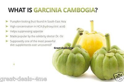 9 of 10 GARCINIA CAMBOGIA 100% Pure 95% HCA Weight Loss Diet Pills Fat  Burner 3000mg