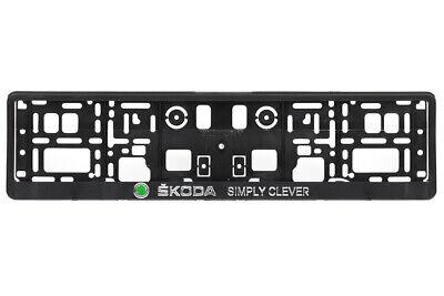 Nummernschildhalter Chrom Skoda 2xECHTE 3D-Effekt Kennzeichenhalter