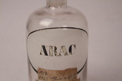 Apotheker Flasche Glas Arac Cytarabin antik Deckelflasche Gefäß 14 cm Medizin 2
