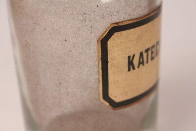 Apotheker Flasche Medizin Glas Katechu antik Deckelflasche 17 cm groß Gefäß 3