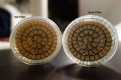 Warmweiß LED Filter CTO Farbfolie Klebefolie Warmlicht GU10 GU5,3 mittel 3