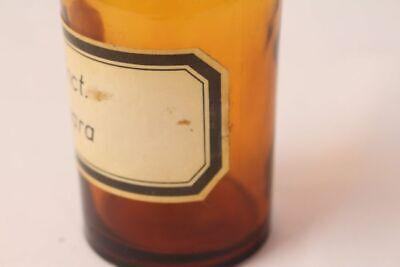 Apotheker Flasche Medizin Glas tinct. Amara antik Deckelflasche 15 cm Gefäß 3
