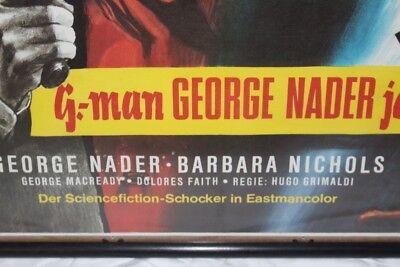 Original Cartel 1965 George Nader Hunt Phantom Barbara Nichols Gefahr Espacio