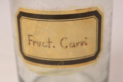 Apotheker Flasche Medizin Glas groß Fruct. Carri antik Deckelflasche 17 cm 2