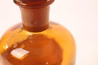 Apotheker Flasche Medizin Glas tinct. Amara antik Deckelflasche 15 cm Gefäß 6