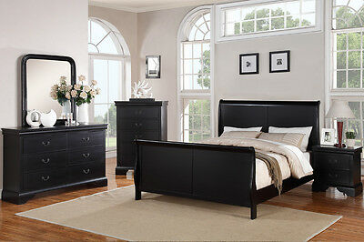 BEDS BEDROOM DRESSER Queen King Bed sets 4 Piece Bedroom ...
