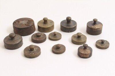 Antique Poids de Pharmacien Poids de Test Poids Fins Poids Calibrée