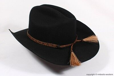 920e18ab4c35c ... Horse Hair Hat Band for Cowboy Hats Brown   Black with Five Strands   2  Tassels