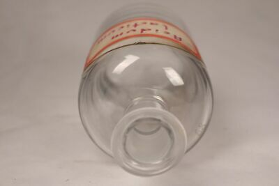 Apotheker Flasche Medizin Glas Acidum lacticum antik Deckelflasche Email 12