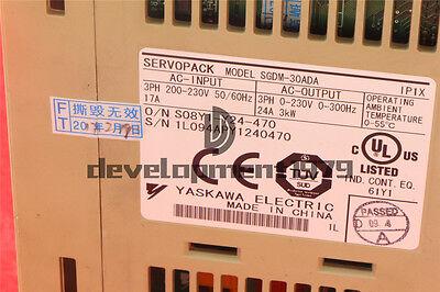 1PCS Yaskawa SGDM-30ADA Servo Drive Tested 2