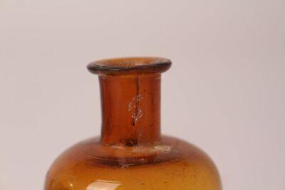 Apotheker Flasche Medizin Glas braun Nylanders Reagens antik Deckelflasche 6