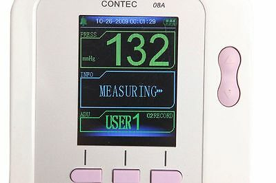 CE Neonate/Infant Upper Arm NIBP Digital Blood Pressure Monitor+SpO2 Oximetry+SW 6