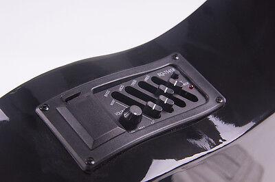 "38"" Acoustic Guitar Bundle Instrument Design With Guitar Case, Strap  Black New 9"