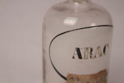 Apotheker Flasche Glas Arac Cytarabin antik Deckelflasche Gefäß 14 cm Medizin 4