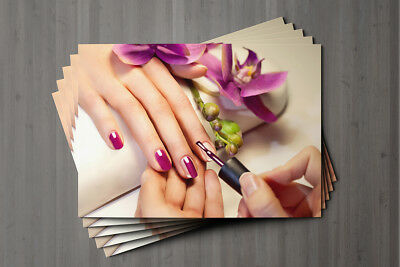 Gift Voucher Beauty Nail Salon Blank Card Manicure Pedicure Present A7 + Env. 9