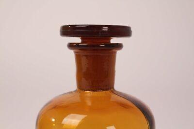 Apotheker Flasche Medizin Glas tinct. Amara antik Deckelflasche 15 cm Gefäß 8