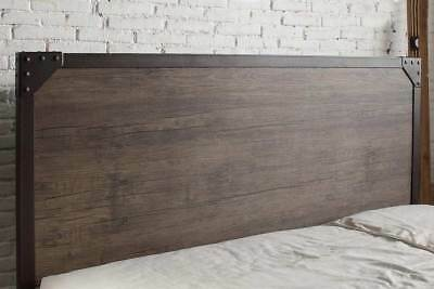 Modern Vintage Industrial Style Rustic Wood & Metal Bed Frame Double King Size 3