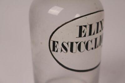 Apotheker Flasche Medizin Glas Elix.E Succ. Liquir. antik Deckelflasche Gefäß 3