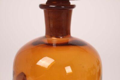 Apotheker Arzt Medizin Flasche Tinct. Capsici braun Deckelflasche antik 22 cm 5