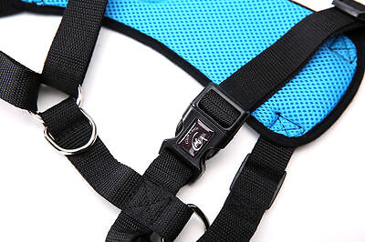 Breathable Air Mesh Dog Car Harness for Small Large Dogs Travel Seat belt Clip 10