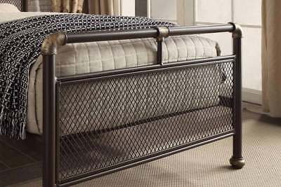 Modern Vintage Industrial Scaffold Style Metal Bed Frame Single Double King Size 6
