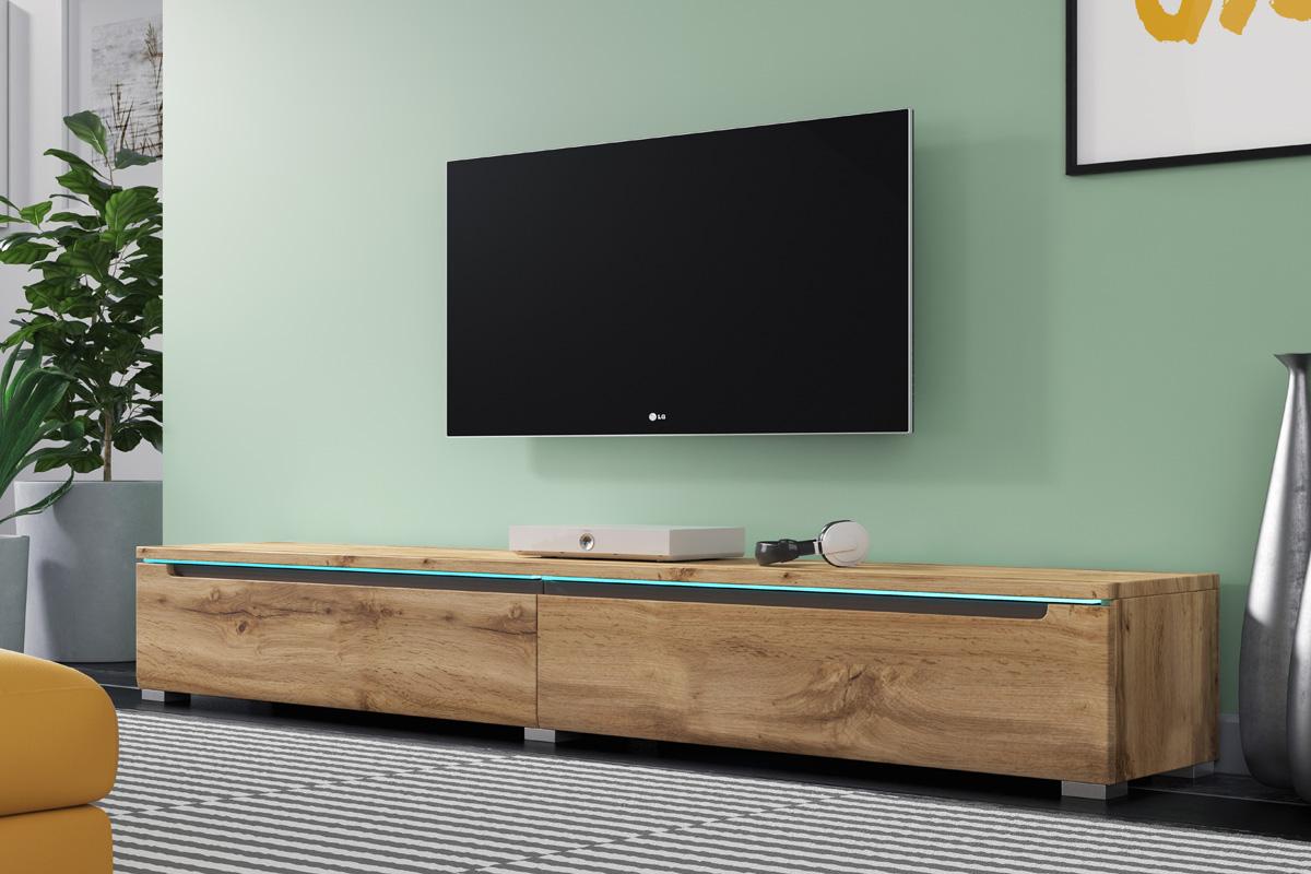 TV-LOWBOARD SWIFT IN Weiß Beige Wotan Eiche Stehend oder Hängend mit ...