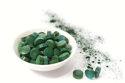 **Organic Spirulina** 1000 tablets (500mg) Detox,Weight loss,energy booster 2