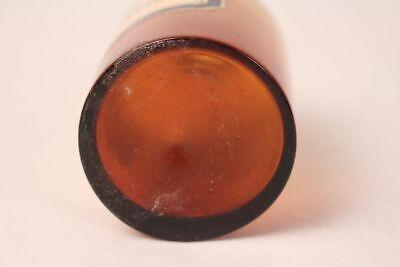 Apotheker Flasche Medizin Glas braun Nylanders Reagens antik Deckelflasche 11
