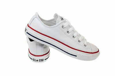 43696c1e9ad058 ... Converse Chuck Taylor All Star White Low Top Kids Youth Boy Girl Size 11 -3