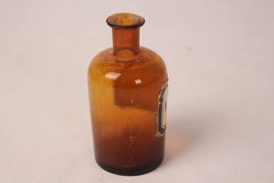 Apotheker Flasche Medizin Glas braun Nylanders Reagens antik Deckelflasche 9