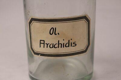 Apotheker Flasche Medizin Glas ol. Arachidis antik Deckelflasche Gefäß 20 cm 2