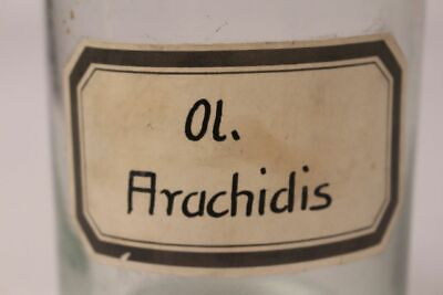 Apotheker Flasche Medizin Glas ol. Arachidis antik Deckelflasche Gefäß 20 cm 3