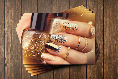 Gift Voucher Card Beauty Manicure Pedicure Nails Therapy Treatment - x10 +Env. 5