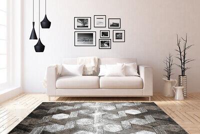 3D TAPIS DESIGN Moderne Tapis Salon Vert Gris Noir Blanc ...