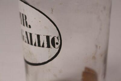 Apotheker Arzt Medizin Flasche Spir. Vini Gallic. Deckelflasche antik Emaille 4